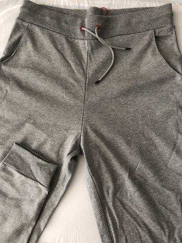 "NWT $115 Hugo Boss Dooney-US Mens Gray Track Sweat Pants S (32"" Stretch)"