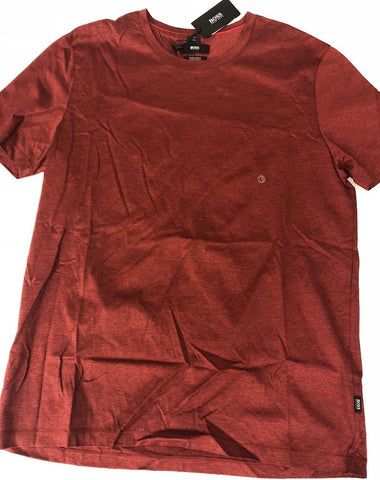 NWT $105 BOSS HUGO BOSS Terni 118 Regular Fit Short Sleeve Red T-Shirt L
