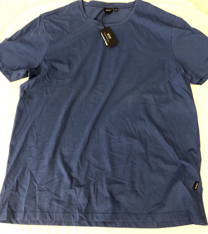 NWT BOSS Hugo Boss GR-Lecco Short Sleeve Slim Fit Blue T-Shirt 2XL