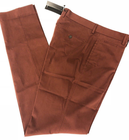 NWT $295 Boss Hugo Boss 1-Glenden Modern Mens Dark Red Dress Pants Size 34 US