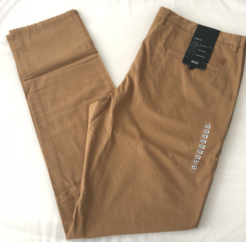 NWT $215 Boss Hugo Boss Clive-D Medium Beige Casual Slim Fit Pants 54 Eu (38 US)