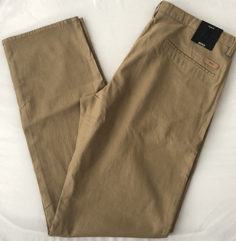 NWT $175 Boss Hugo Boss Rice2-W Brown Casual Slim Fit Pants 54 Eu (38 US)