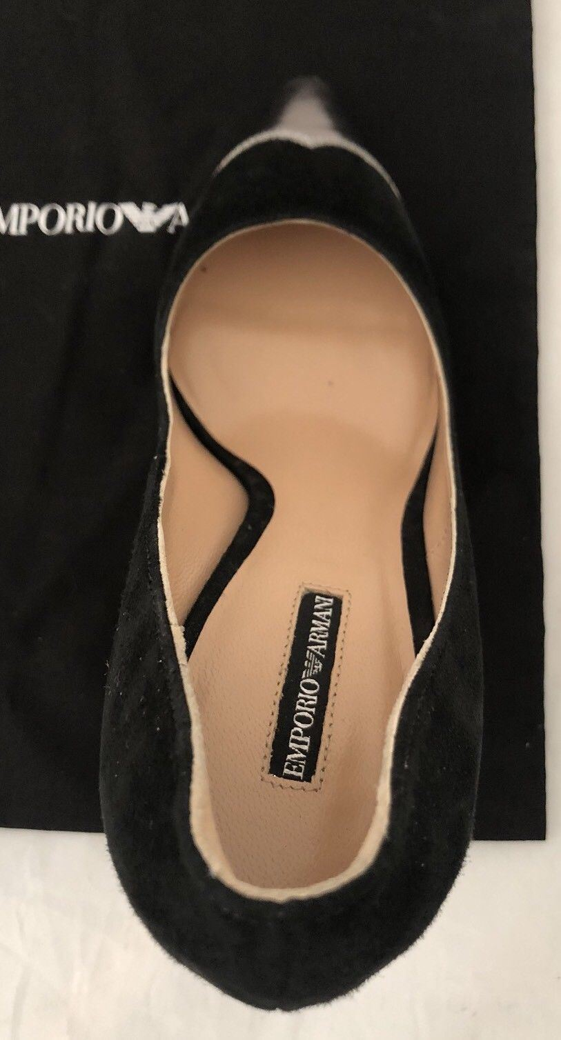 NIB $545 Emporio Armani Women's High Heel Suede Dress Shoes 7 US X3E271 Italy - BAYSUPERSTORE
