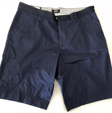 NWT $155 Boss Hugo Boss Floyd-D Mens Blue Stretch Shorts Size 30 US (46 Euro)
