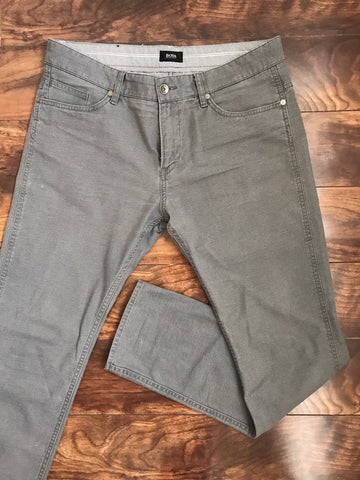 Boss Hugo Boss Gray Stretch Cotton Pants 50 Eu (34 US)