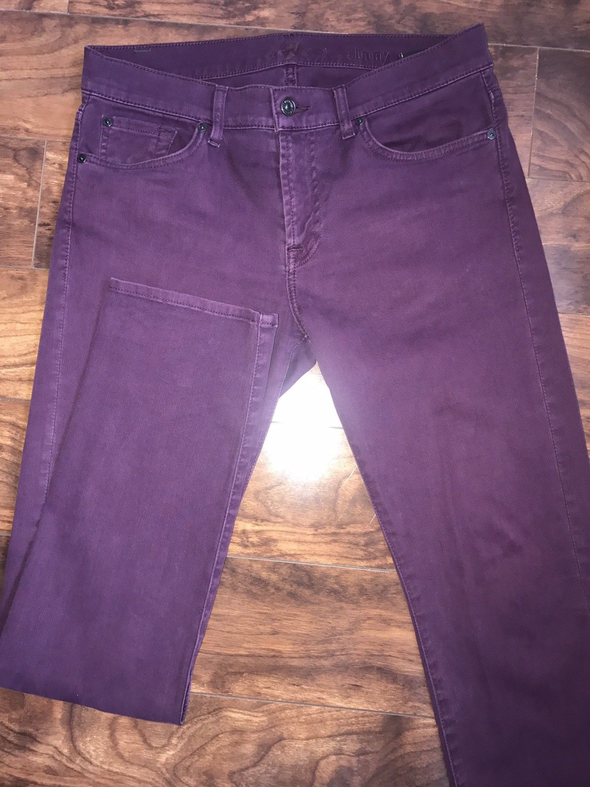 For All 7 Mankind Cotton Mens  Purple Jeans Size 32 US