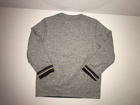 NWT $34 Janie and JackR Reversible boys East Hampton Dog Gray tee Size 4
