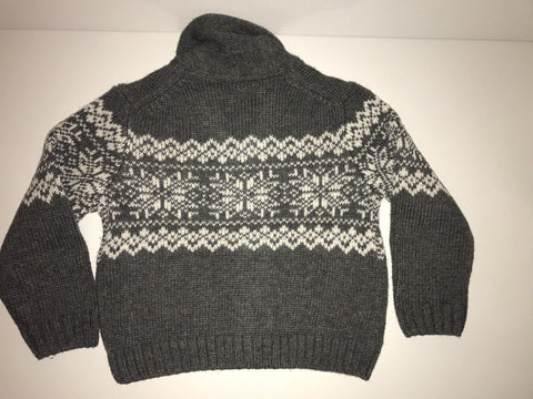 NWT $59 Janie and Jack Boy's Cardigan Gray Sweater Size 4