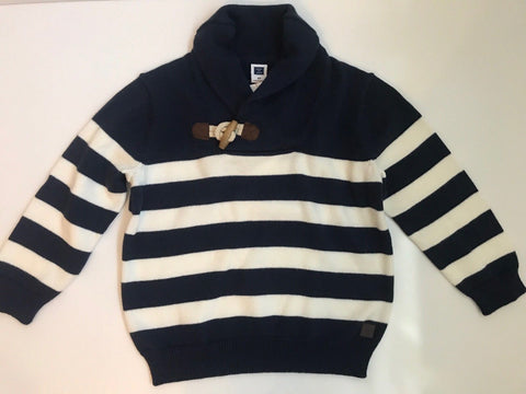 NWT $54 Janie and Jack Boy's Shawl Striped Sweater Size 2T