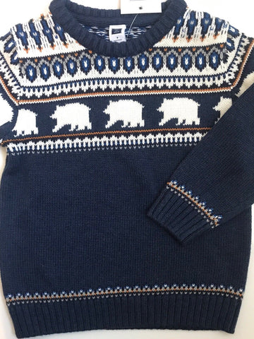 NWT $54 Janie and Jack Boy'sFair Isle Sweater Size 3