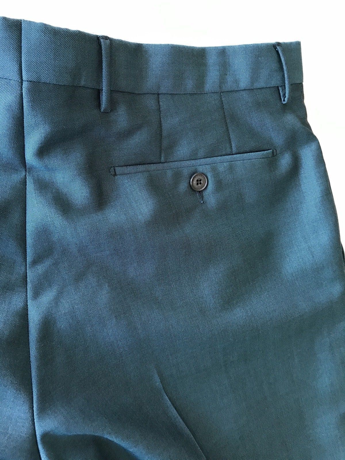 NWT $395 Burberry Mens Dark Teal Wool Dress Pants Size 42 US (52 Euro) Portugal