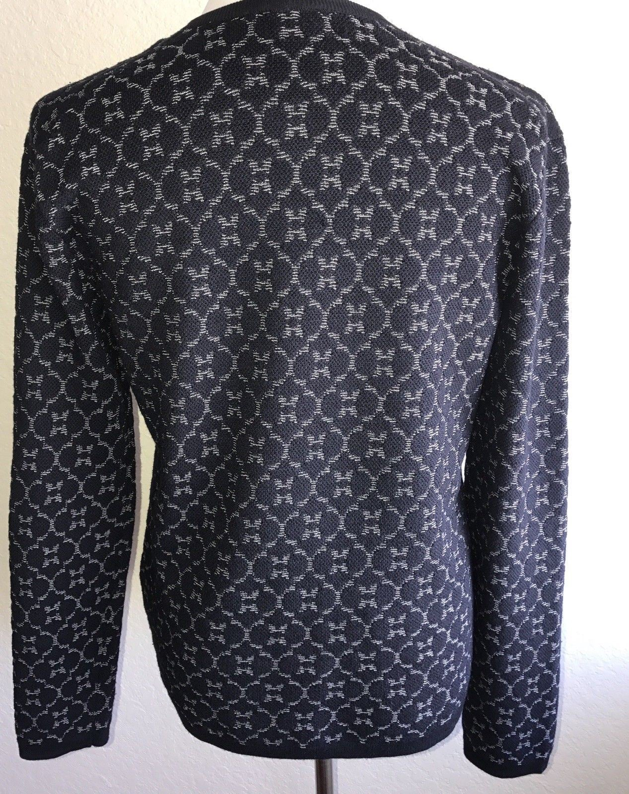 NWT $1895 Giorgio Armani  Knitwear Blue Long Sleeves Sweater 50 EU Italy 3YSM19