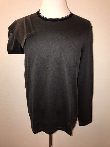 NWT $115 BOSS Hugo Boss Slim Fit Charcoal Long Sleeve Cotton Shirt 2XL