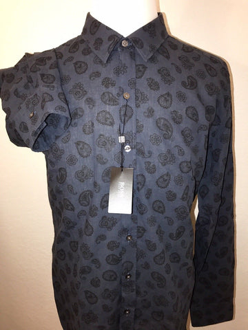 NWT $175 BOSS Hugo Boss Black Label Mens Sharp Fit Linen Cotton Dress Shirt 2XL