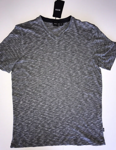 NWT $118 BOSS HUGO BOSS Short Sleeve Regular Fit V-Neck T-Shirt XL