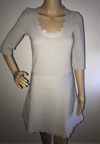 NWT $895 Emporio Armani Women's Light Gray Dress Size 42 Eu