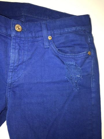 7 For All Mankind Cotton Women's Regular Fit Blue Jeans Size 26 US