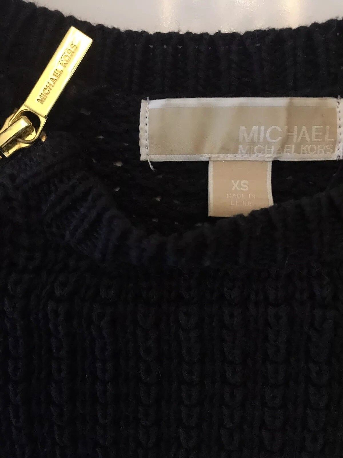 Michael Kors Women's Long Sleeve Black Knit Sweater Size XS