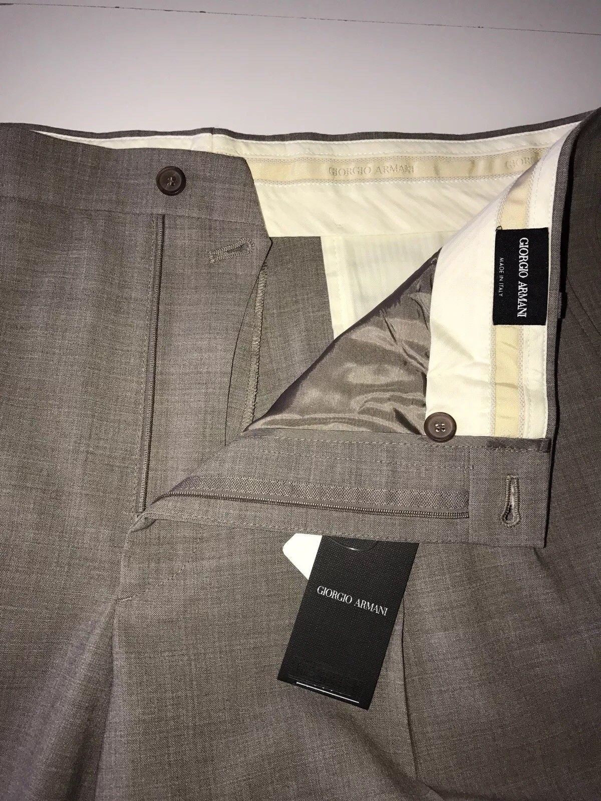 "NWT $995 Giorgio Armani Mens Sand Dress Pants Size 56 US (39"") Italy TSP024"