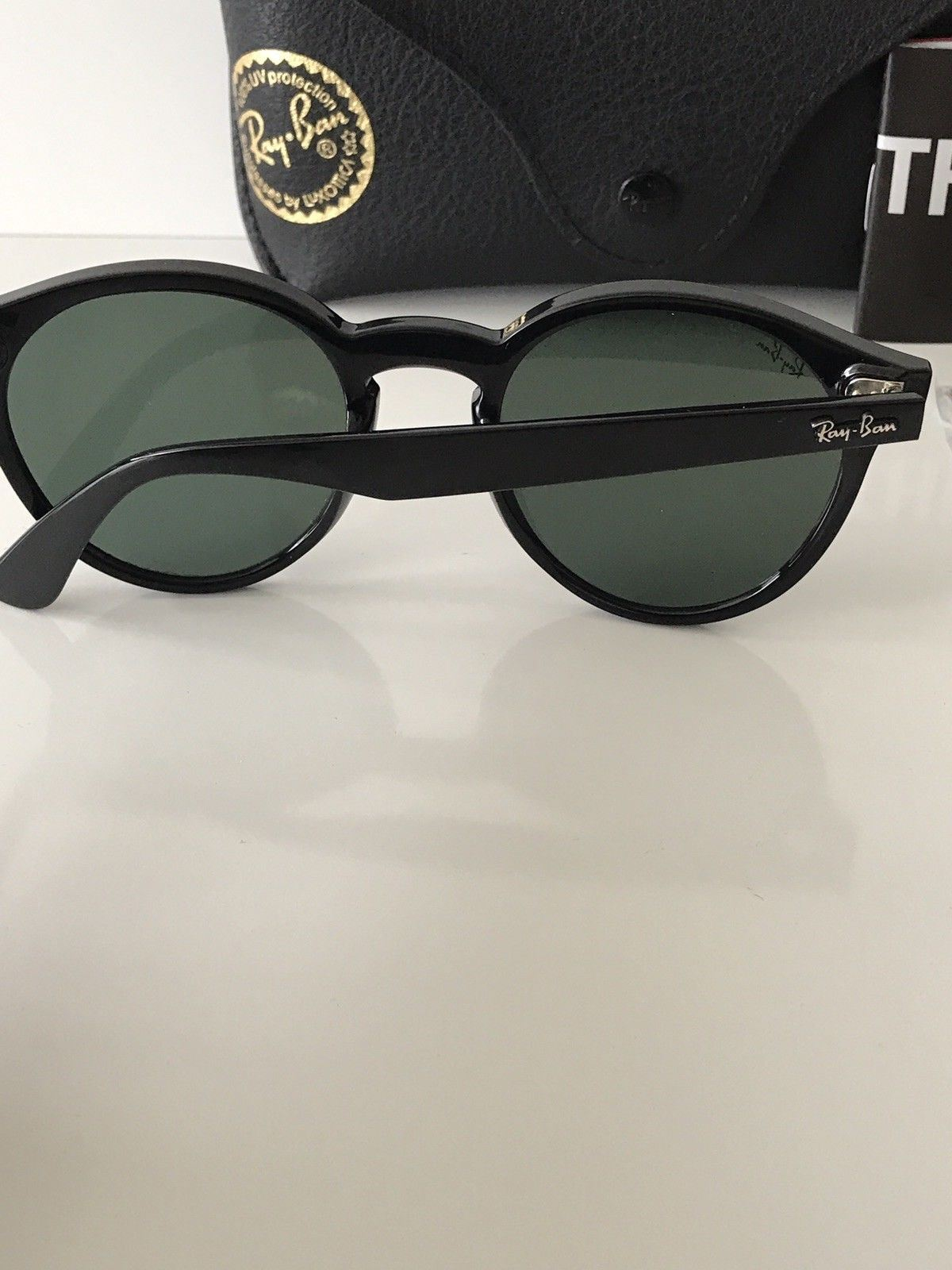 1b5e4d862d4 NWT Ray-Ban Sunglasses RB 4380-N 601 71 Black Frame Green Lenses ...