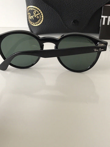 NWT Ray-Ban Sunglasses RB 4380-N  601/71  Black Frame Green Lenses  Italy