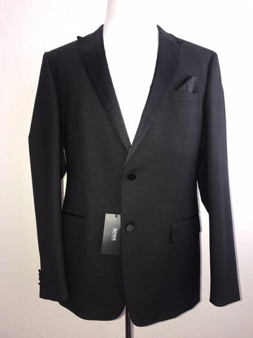 NWT $745 HUGO BOSS Haylord1 Tuxedo Jacket Black 44R US (54R Eu)