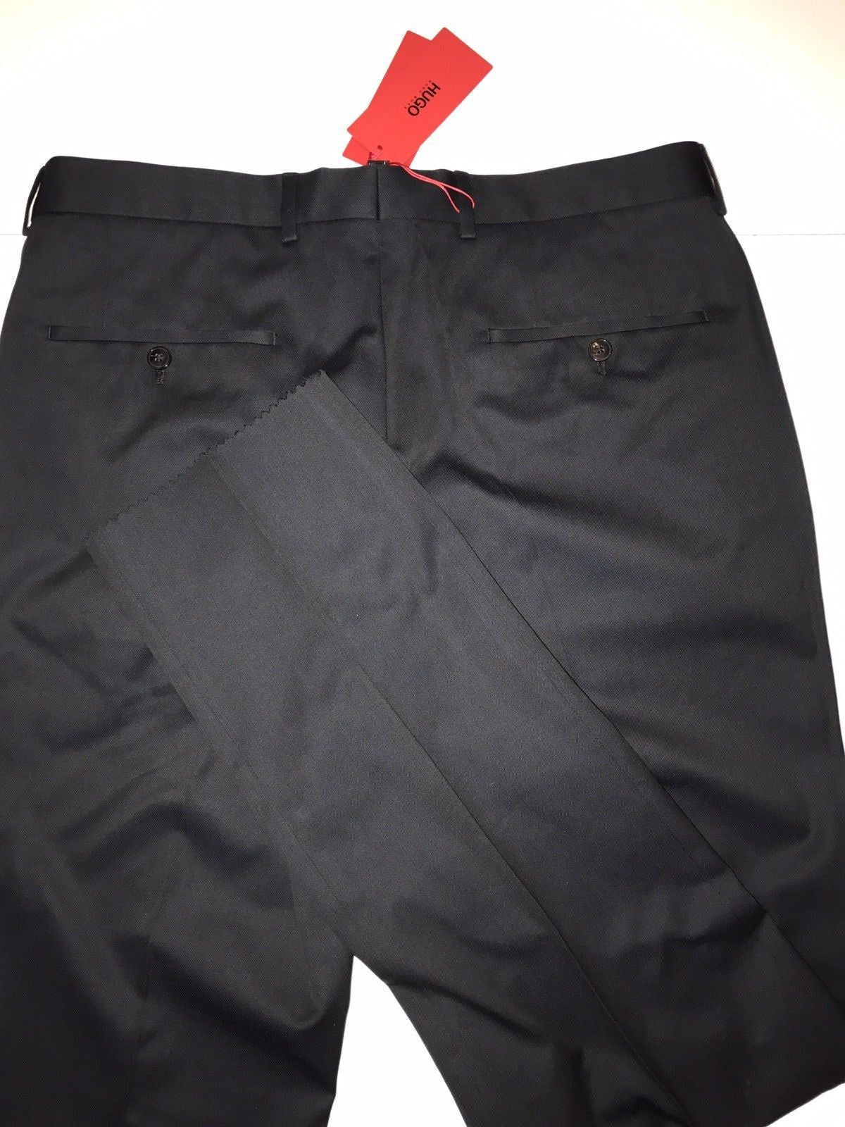 722f40e64 NWT $255 Boss Hugo Boss Genesis Mens Cotton Dark Blue Dress Pants Size 36R  US