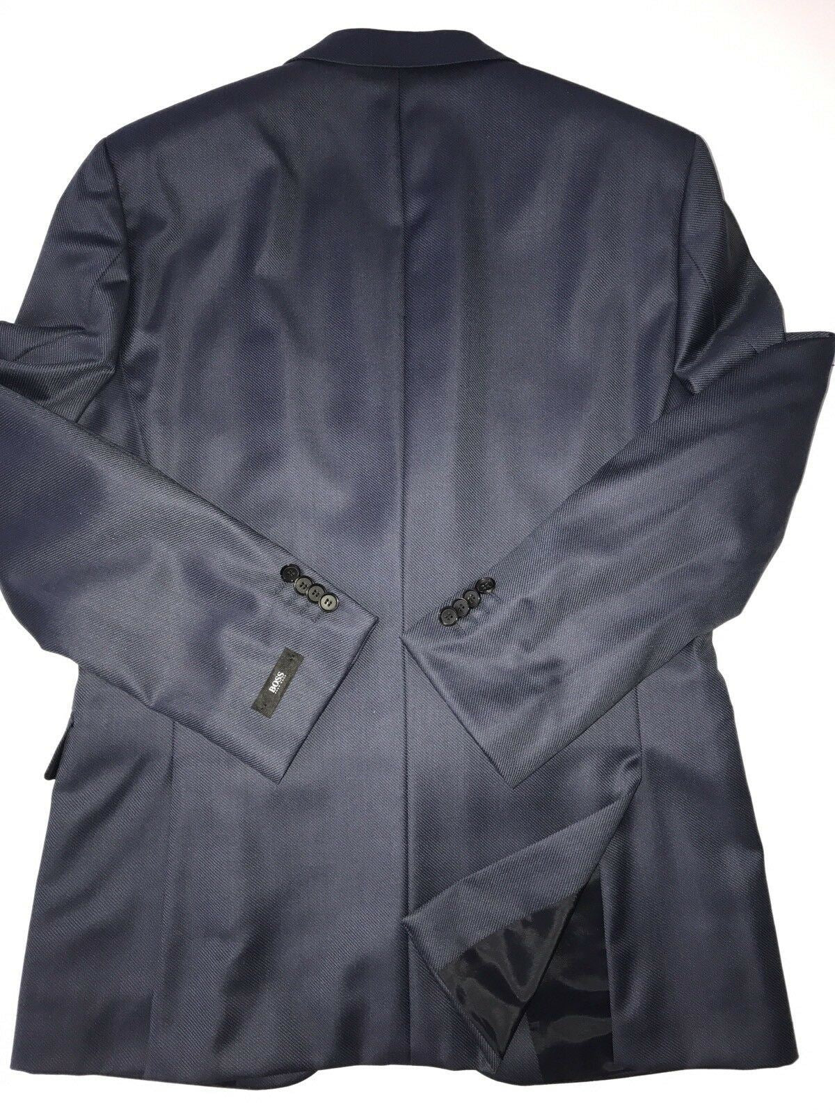 434ca6378 NWT $695 Boss Hugo Boss Grand Silk / Wool Navy Sport Coat Jacket 38R ...
