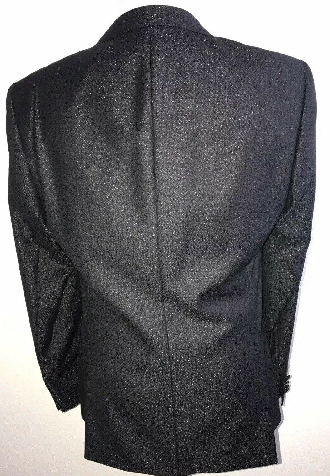 NWT $795 Boss Hugo Boss Hayford Tuxedo Sport Coat Jacket Black 40R US (50R Eu)