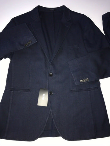 NWT $1395 Boss Hugo Boss Novel Suit Blue 42R US (52R Eu) Wool Made in Germany