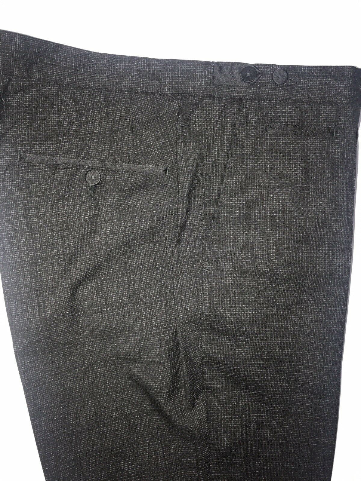 New $285 Boss Hugo Boss Glister Mens Wool Black Dress Pants Size 36R US