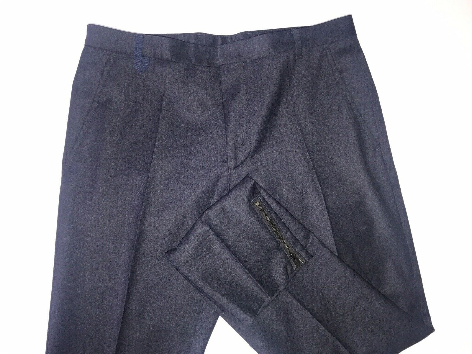 NWT $175 Boss Hugo Boss Hiw Mens Wool  Dark Blue Dress Pants Size 28R US