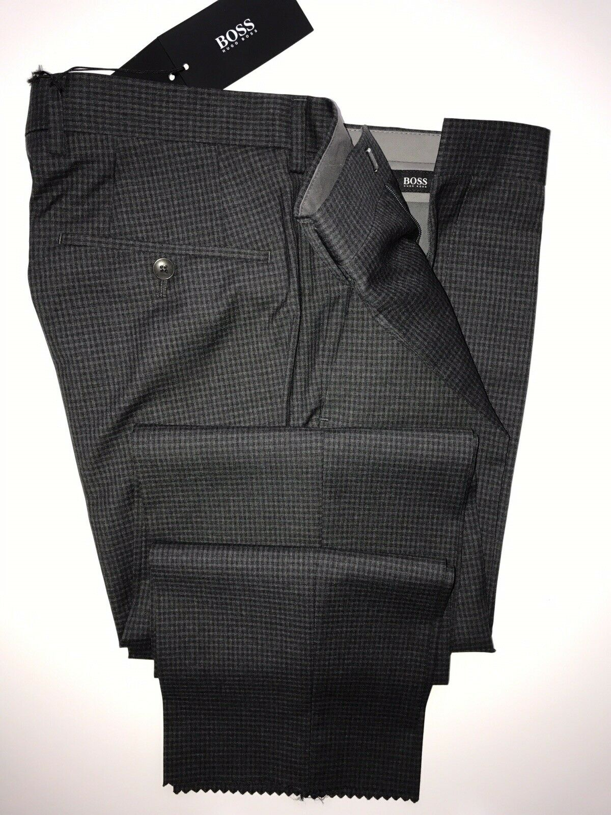NWT $245 Boss Hugo Boss Genesis2 Mens Wool Charcoal Dress Pants Size 32R US