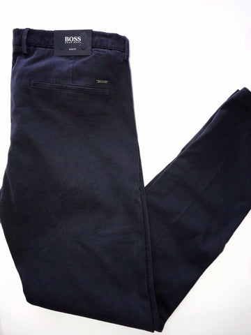 NWT $178 Boss Hugo Boss Rice3 Mens Cotton Slim Fit Dark Blue Pants 54 Eu(38R US)