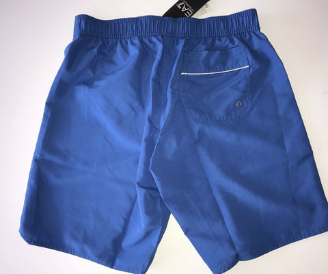 NWT $145 Emporio Armani EA7 Men's Blue Swim Logo Shorts Size 46 EU (30 US)