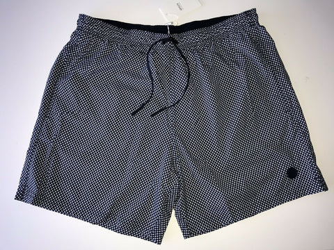 NWT $395 Armani Collezioni Men's Blue and White Swim Boxer Shorts Size Small