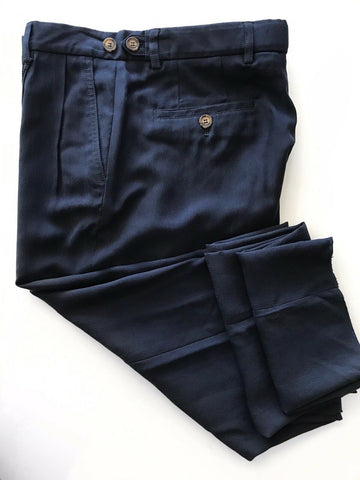 New $1075 Giorgio Armani Men's Cotton Navy Casual Pants Size 32 (48 Eu) Italy