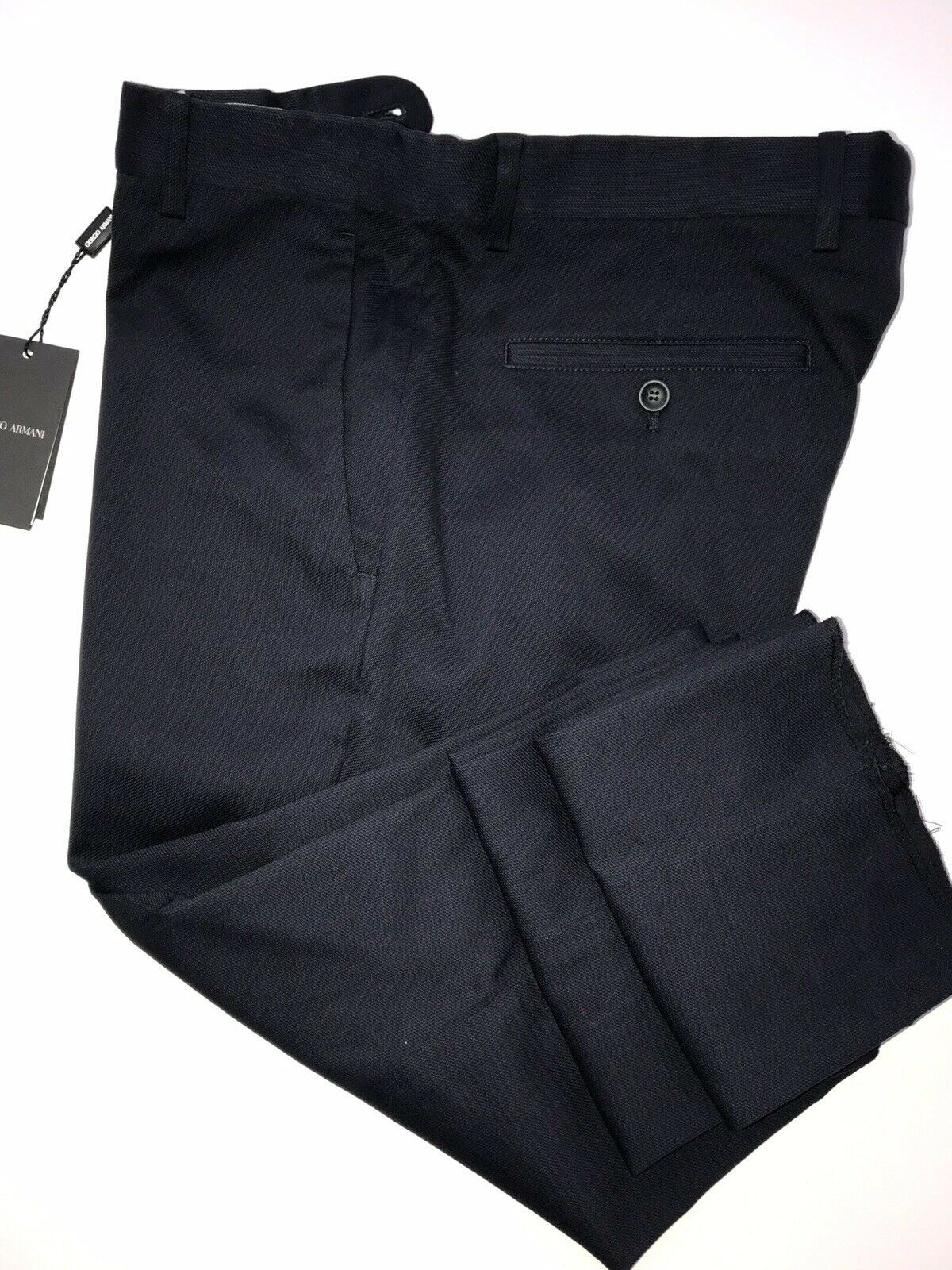 New $595 Giorgio Armani Men's Cotton Navy Casual Pants Size 34 US (50 Eu) Italy