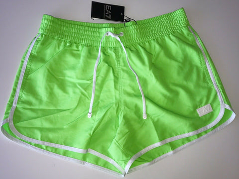 NWT $125 Emporio Armani EA7 Men's Beachwear Sea World Logo Shorts Boxer 52 Eu