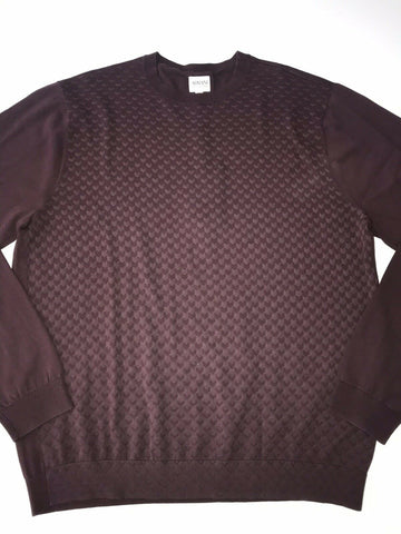NWT $395 Armani Collezioni Burgundy Long Sleeve Crew Neck Sweater L (54 EU)