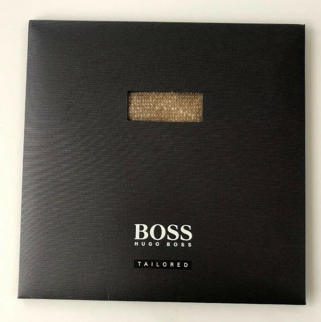 NIB HUGO BOSS Tailored Beige T-Pocket Square 100% Wool Made in Italy