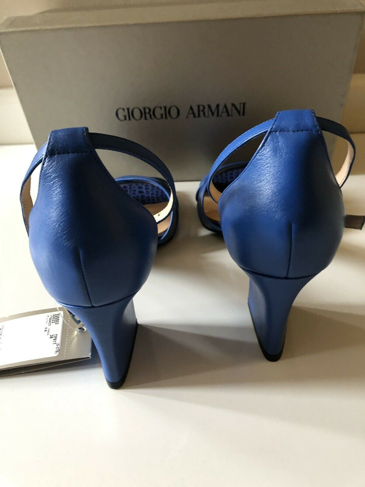 NIB $470 Armani Collezioni Women's High Heel Leather Dress Shoes 7 US 926503