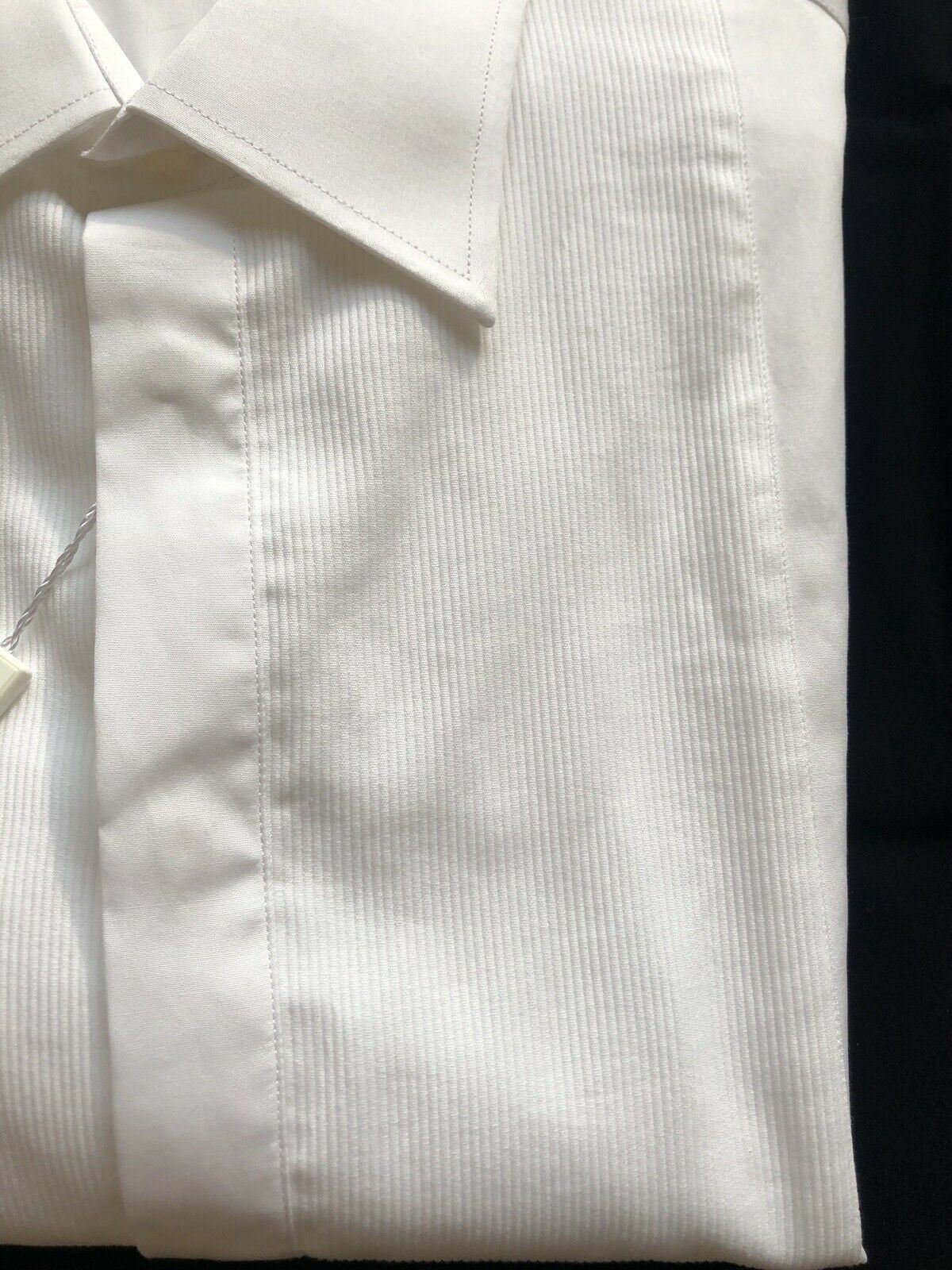 NWT $325 Armani Collezioni Camicia Mens White Dress Shirt 45/18