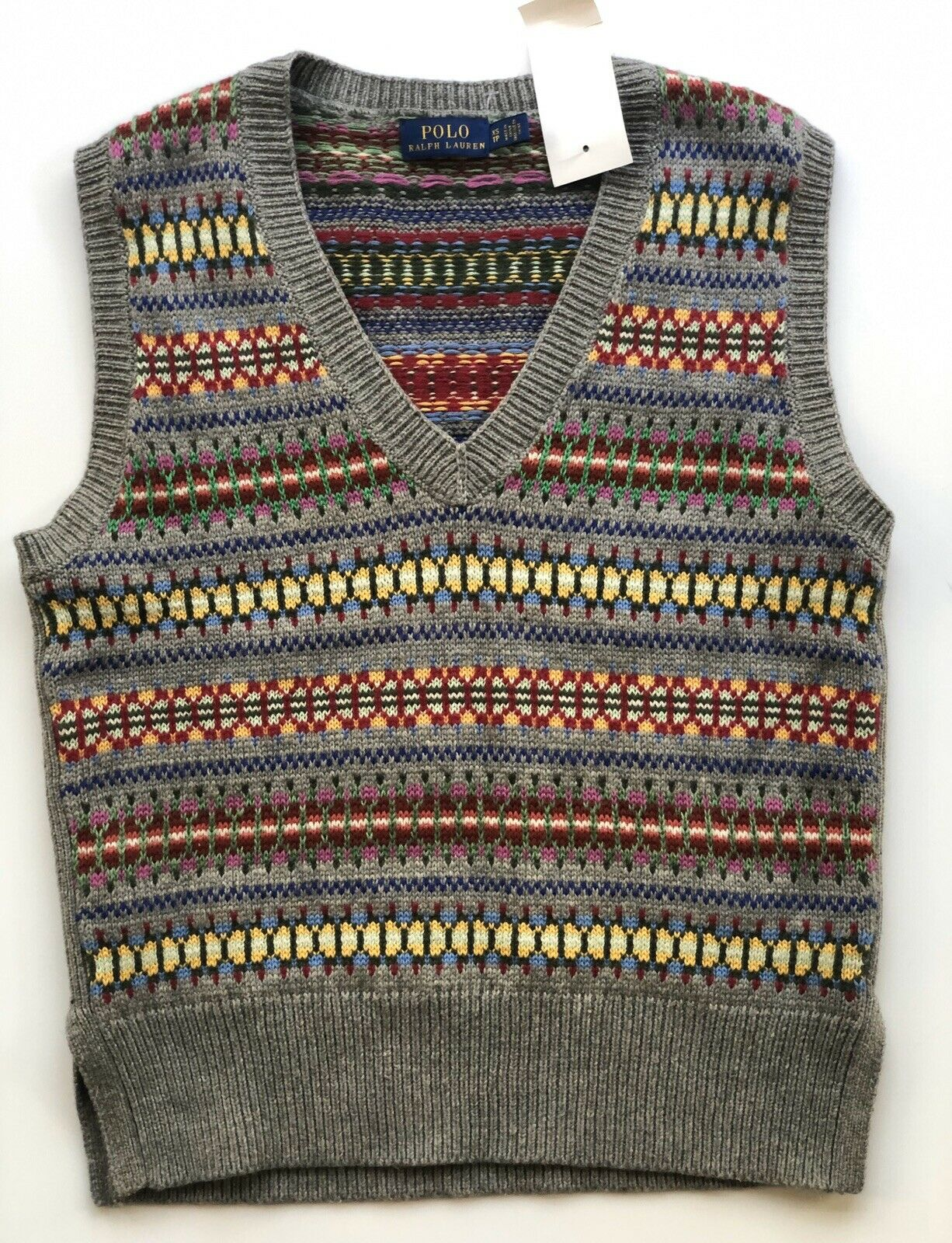 NWT $119 Polo Ralph Lauren Women's  Gray Sleeveless Sweater Size XS