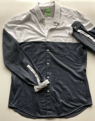 New BOSS Hugo Boss Green Long Sleeve Slim Fit Shirt XL
