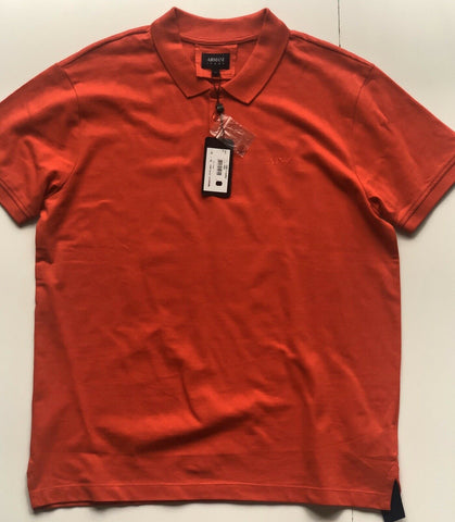 NWT $11 Armani Jeans Cotton Polo Red Shirt XL 7V6F11