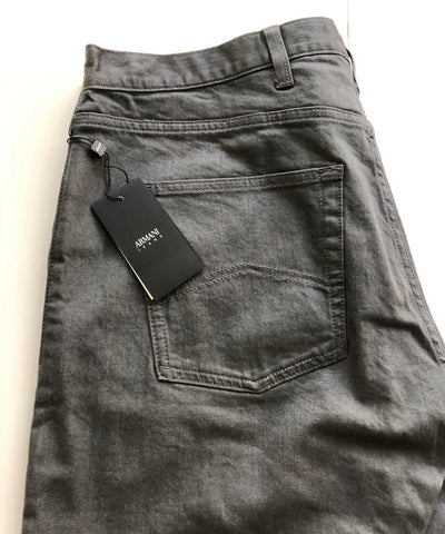 NWT $160 Armani Jeans Mens Slim Fit Gray Jeans Size 38/30 US ( 54 Euro) 8N6J45
