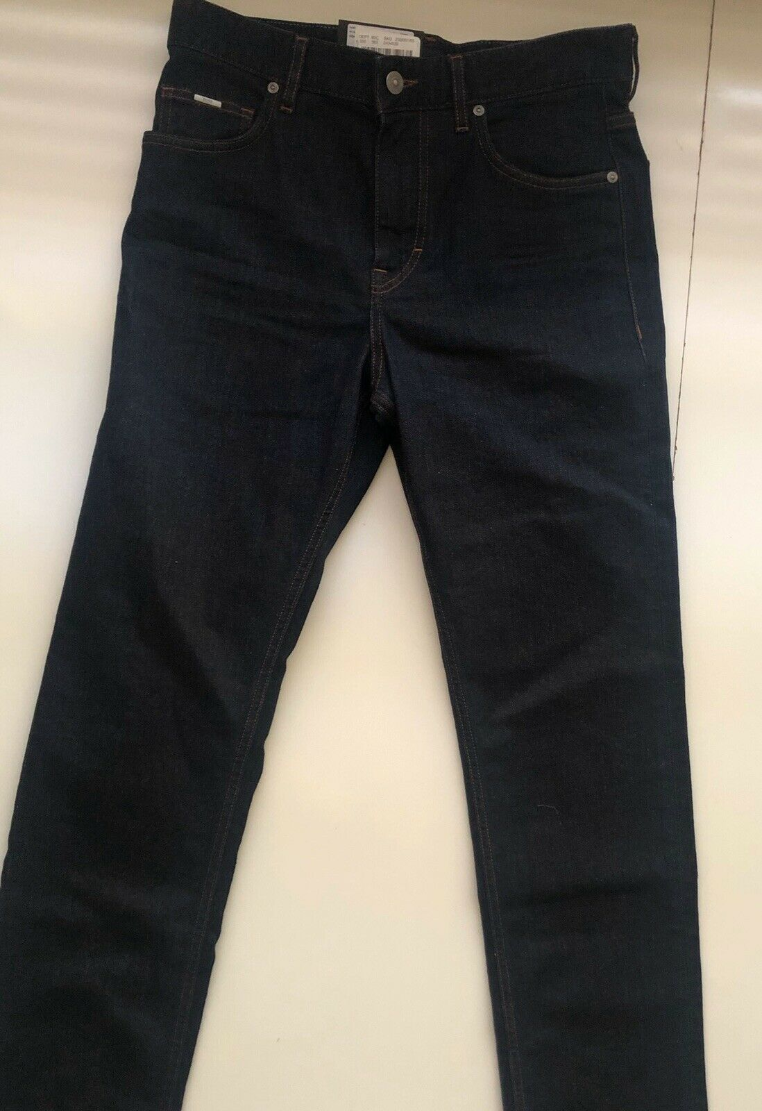 NWT $155 Hugo Boss Men's Albany Relaxed Fit Cotton Navy Denim Jeans Size 30/32