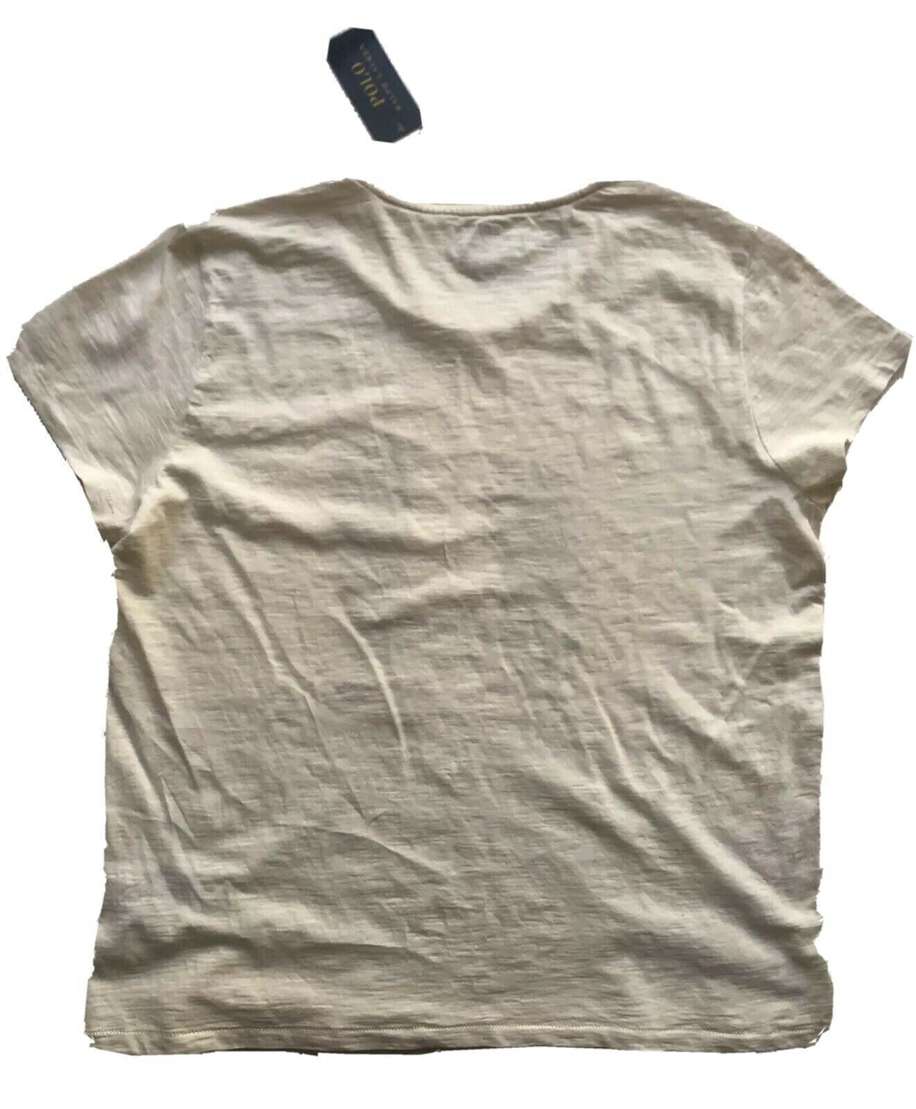 NWT Polo Ralph Lauren Women's Short Sleeve White T-Shirt Size Large
