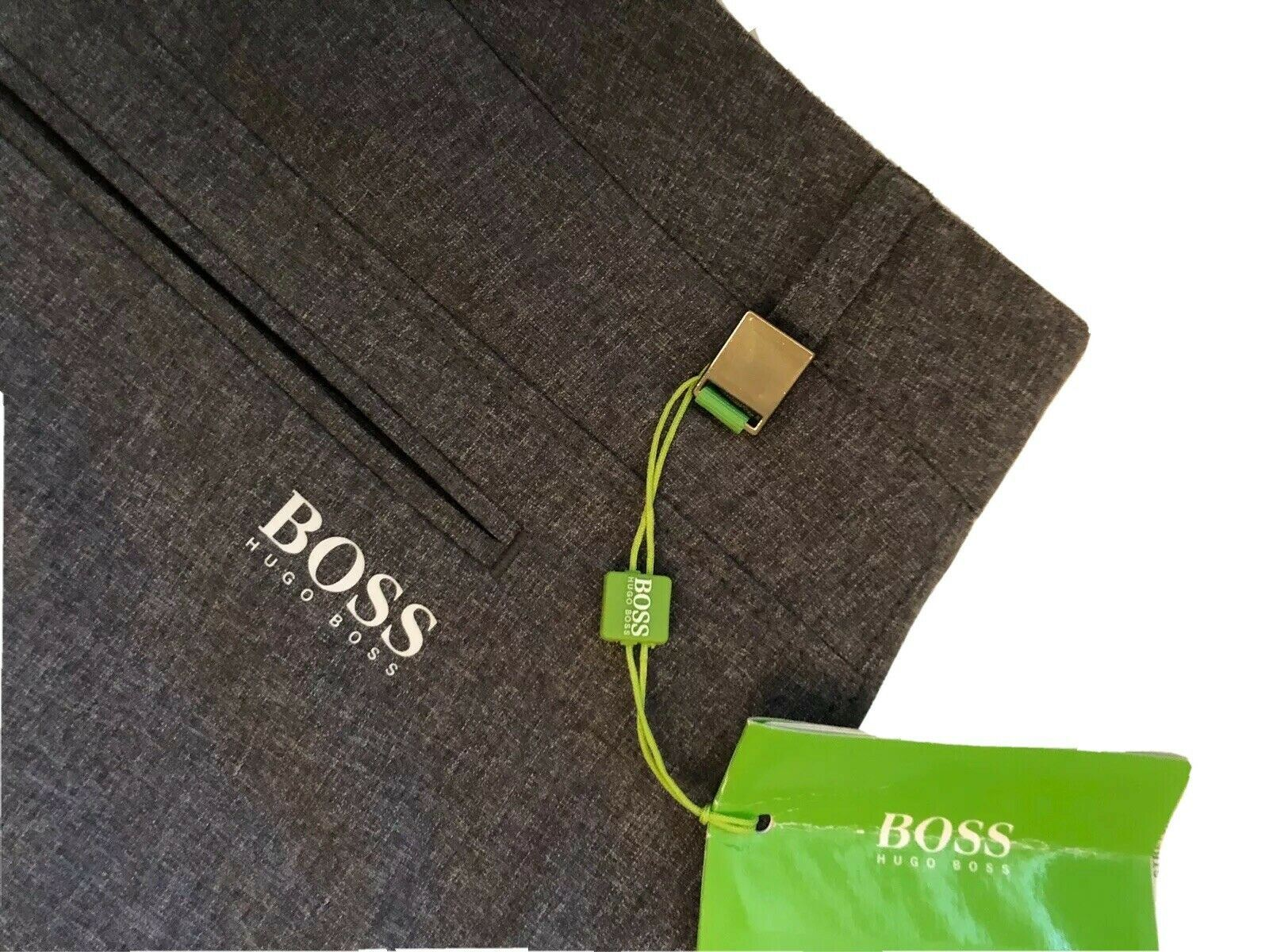 NWT $165 Boss Hugo Boss Hivos Pro Regular Fit Mens Gray Pants 50 Eu (34 US)